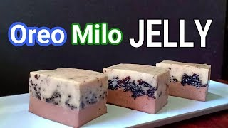 Oreo Milo Jelly Cake | How to make Oreo Milo Jelly Recipe