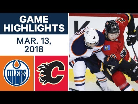 NHL Game Highlights | Oilers vs. Flames - Mar. 13, 2018