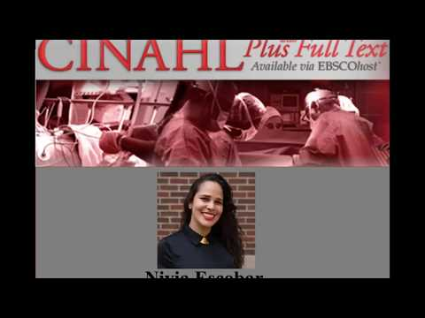 Health Information Library Online CINAHL Plus with Full Text tutorial M thumbnail