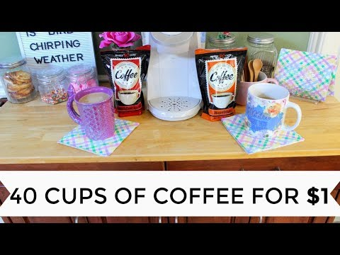 40 CUPS OF COFFEE FOR $1 | DOLLAR TREE COFFEE REVIEW