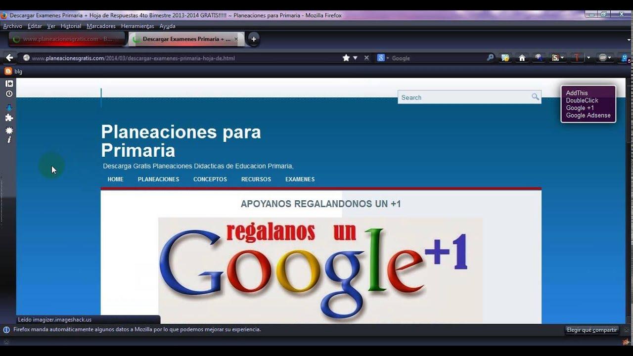 DESCARGAR EXAMENES PRIMARIA CUARTO BIMESTRE 2013-2014 GRATIS - YouTube