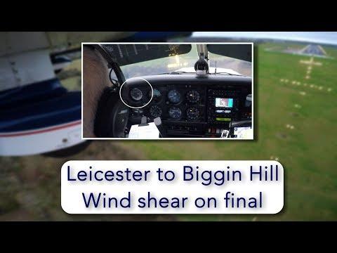 Windshear on short final in light aircraft