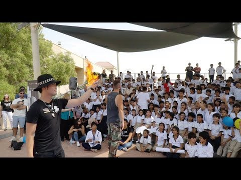 Performing Magic for school kids in Dubai with Kris Fade - V