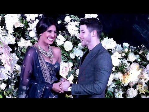Priyanka Chopra BLUSH  While Posing With Husband Nick Jonas | Priyanka-Nick Wedding Reception