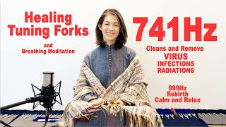 CLEANSE VIRUS, INFECTIONS, RADIATIONS 741Hz TuningForks Breathing meditation