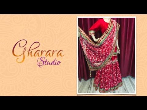 a350818ad1 Red Silk Zari-Zardozi Gharara | Gharara Studio - Keep Looking Royal ! by  Gharara Studio