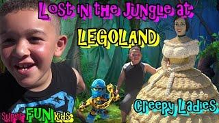 LEGOLAND FLORIDA - LOST IN THE JUNGLE!!! CREEPY LEGO LADIES!