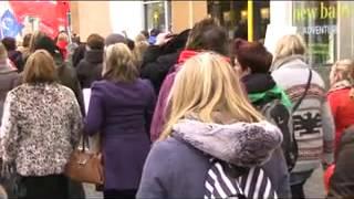 Nurses rally, St Helier, Jersey Feb 2013