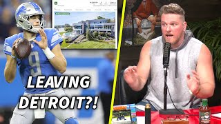 Pat McAfee Reacts To Matt Stafford Selling His Detroit Home