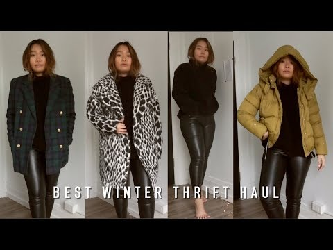 My Best Winter Try-On Thrift Haul Ever | inspiroue