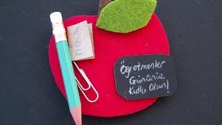 DIY Mıknatıs Süs Ögretmenler Günü Hediyesi Yapılışı / Teacher's Day Magnet  Gift DIY
