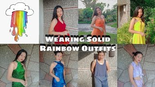WEARING SOLID RAINBOW OUTFITS (lookbook)
