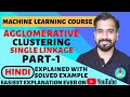 Agglomerative Clustering (Single Linkage) Part-1 Explained with Solved Example in Hindi