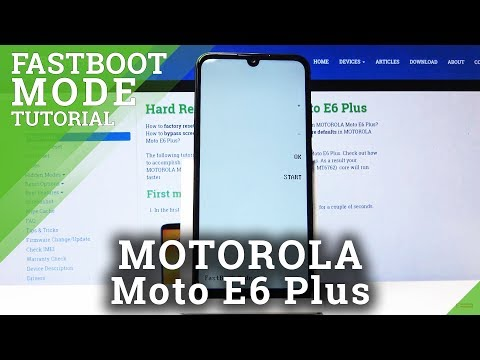 How To Open Fastboot Mode In Motorola Moto E6 Plus - Enable / Exit Fastboot Mode
