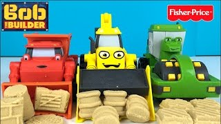BOB THE BUILDER MASH AND MOLD CONSTRUCTION SITE WITH MIGHTY MACHINES DIZZY SCOOP MUCK AND ROLLEY
