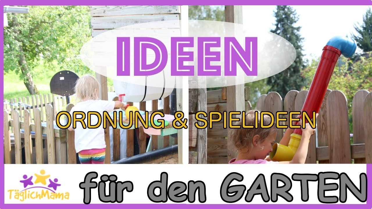 ideen f r den garten ordnung schaffen spielideen f r kinder mom hacks t glich mama youtube. Black Bedroom Furniture Sets. Home Design Ideas