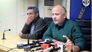 Deputy CM & Finance Minister Manish Sisodia briefs media after GST Council meeting