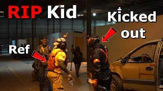 Ref KICKED OUT Speedsofter for Mag Dumping Little Kid! Airsoft RAGE!