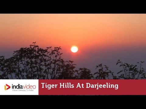 Splendid View of Sunrise at Tiger Hills in Darjeeling, West Bengal