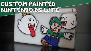 Custom Painted Nintendo DS Lite - Luigi