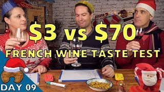 $3 French Wine vs. $70 French Wine - Can you tell ze difference?