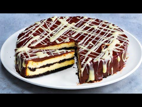 le-dessert-à-ne-pas-manquer!-gâteau-au-fromage-à-la-crème-au-chocolat-et-au-citron|-savoureux.tv