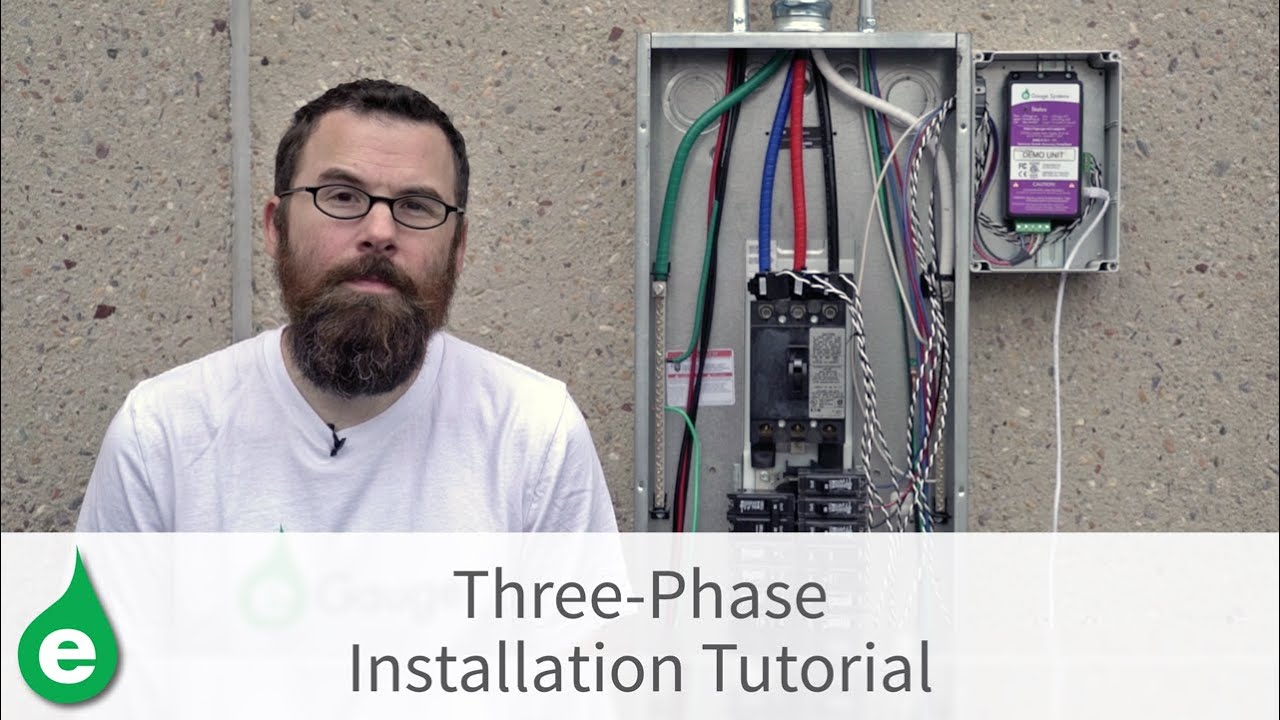 hight resolution of three phase installation tutorial