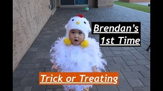 Brendan's 1st time trick or treating