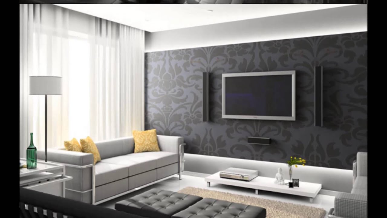 Tv arkas duvar dekorasyonu ta kaplama youtube - Contemporary design for small living room ...