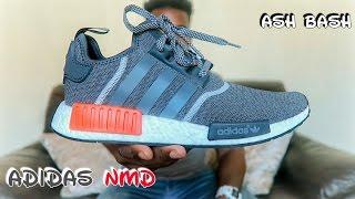 adidas nmd wool   dark grey solar red   ash bash