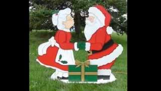 Mr. & Mrs. Claus actually kissing in your yard is sure to be a big hit for the holidays! Make this unique display using our full-size ...