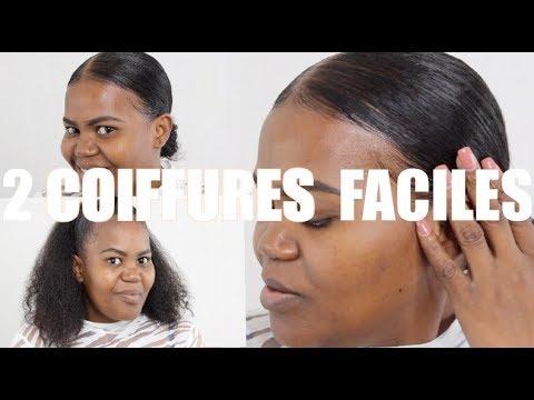2 Coiffures Faciles Pour Cheveux Defrises Sakina