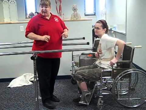 Preambulation parallel bars exercises for hemiplegics