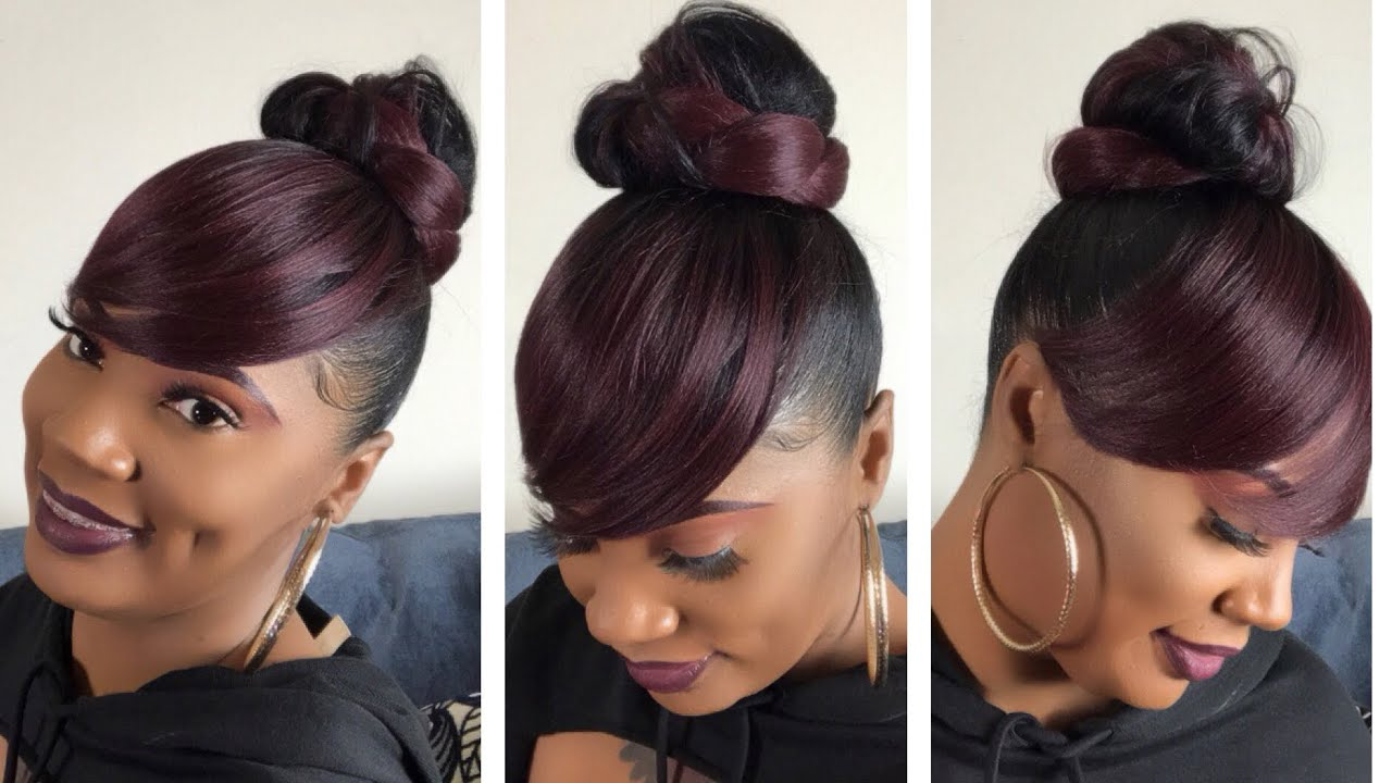 Versatile 2pcs Model Bun And Swoop Side Bang Updo