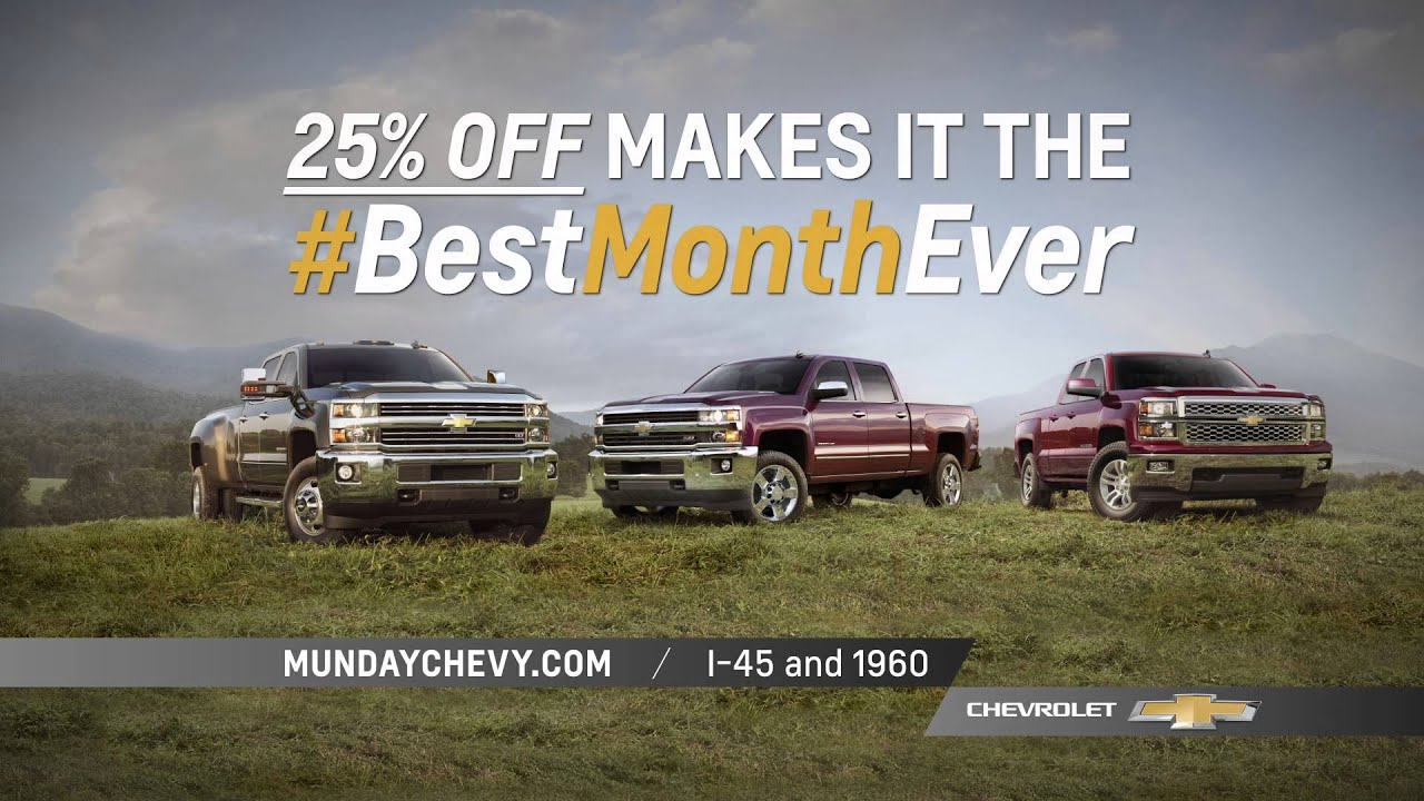 Munday Chevrolet Turns The Best Day Ever Into The Best Month Ever!