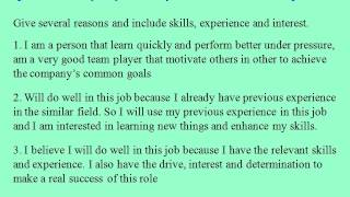 Sales consultant interview questions and answers