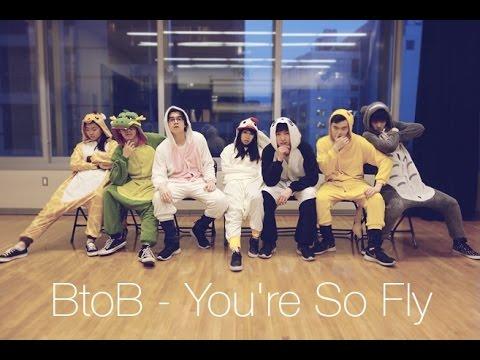 East2West - Kawaii cover dance of BTOB's You're So Fly (kigurumi version)  - A group of dancers dressed in animal onesies costumes dancing to the kpop song You're So Fly by BTOB.