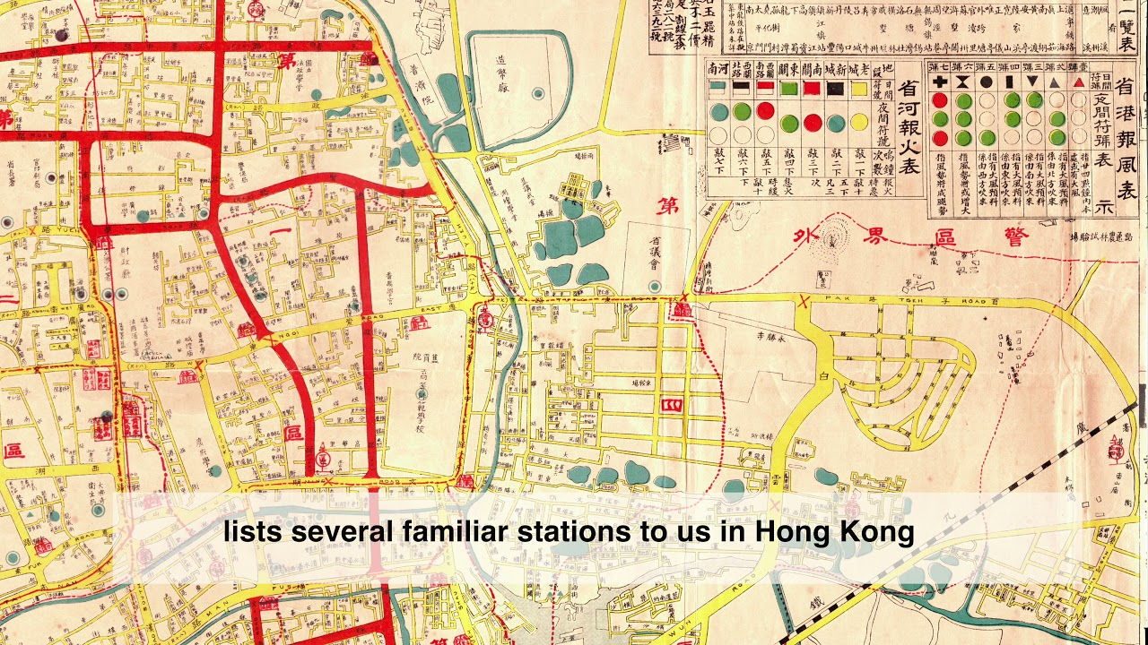 Sample of research result of a Directed Project involving detailed investigation of an old map