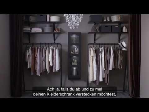 Bekannt IKEA: Offener Kleiderschrank für Modefans - YouTube JB22