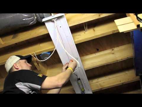 Installing Overhead T8 Light Fixtures - YouTube