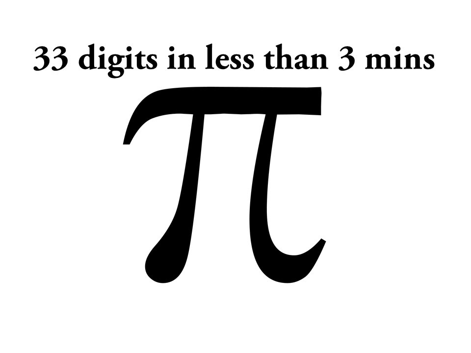 Amazing Chinese Trick To Memorize Pi First 33 Digits In