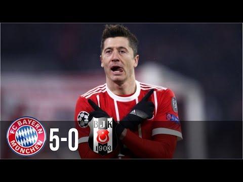 Bayern Munich vs Besiktas 5-0 - All Goals & Highlights UCL 21/02/2018 HD