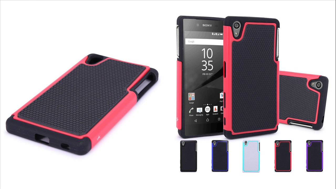 los angeles c7648 187d3 Hybrid Dual Layer Armor Defender Case Cover for Sony Xperia Z5
