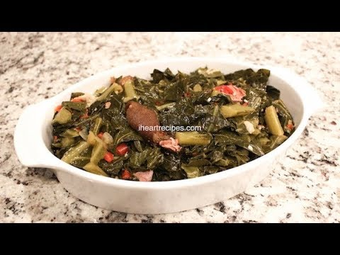 Collard Greens With Ham Hocks - How To Cook Southern Soul Food - I Heart Recipes