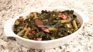 How to make soul food dinner cooking videos collard greens with ham hocks how to cook southern soul food i heart recipes forumfinder Choice Image