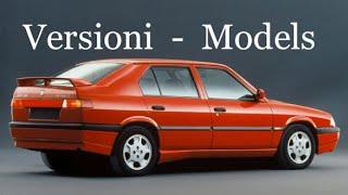 Catalogo Alfa Romeo 33, 1990 - 1994, versioni, modelli, catalogue models
