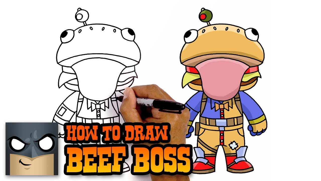 How to Draw Fortnite Beef Boss YouTube