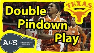 Texas Double Pin 5 Out Basketball Play
