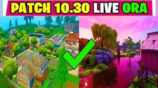 NOUVEAU UPDATE PATCH 10.30 FORTNITE LIVE ITA BOSCHETTO BISUNTO SEASON 10