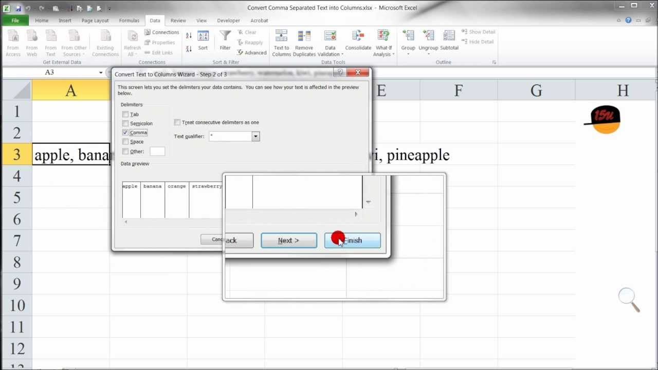 how to add comma in excel